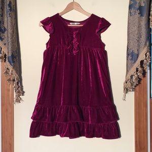 Old Navy girls 10-12 Burgundy Dress